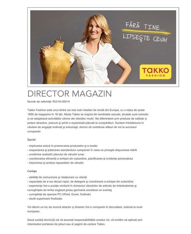 takko fashion manager magazin