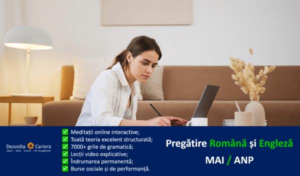 Pregătire Gramatică Limba Română - Admitere MAI / ANP